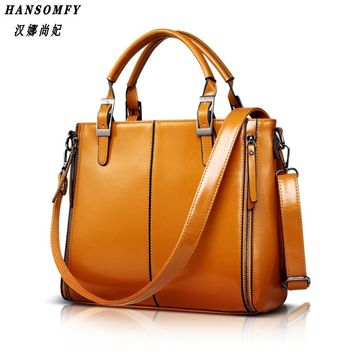 100% Genuine leather Women handbags 2017 New Fashion Handbag Brown Women Bag Vintage Messenger Bag Office Ladie Briefcase