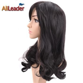AliLeader Hair Products Short Long Medium Length Wig For Black And White Women, Stock Clearance Synthetic Wigs Heat Resistant