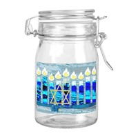 Hanukkah Candles with Gold Star of David Food Label