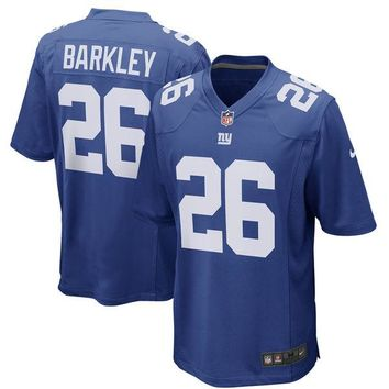 Men's Saquon Barkley Royal 2018 Draft First Round Pick Game Jersey