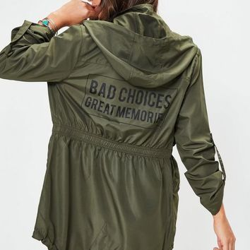 Bad Choices Great Memories Military Jacket