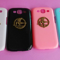 The Hunger Games-Samsung Galaxy S3 case,Samsung galaxy S3,in black or white or green or red