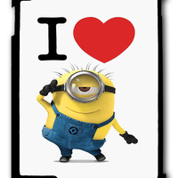 I Love Minions iPad 2 3 4, iPad Mini 1 2 3 , iPad Air 1 2