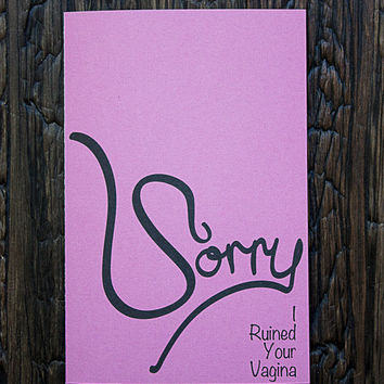 Mothers Day Card Ruined Vagina Pink V2.0