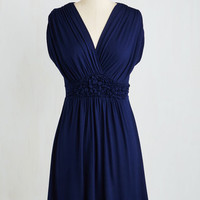 Mid-length Cap Sleeves A-line Easygoing Ending Dress