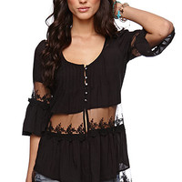 LA Hearts Inset Tunic Shirt at PacSun.com