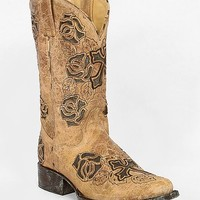 Corral Floral Square Toe Cowboy Boot