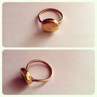Simple Gold Brass Ring Plain gold ring Gold Hammered ring Gold ball Ring bridesmaid gift simple hippie ring cheap gift