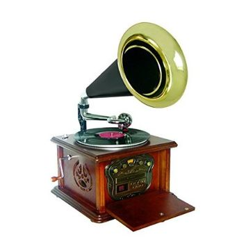 Pyle PUNP32BT Vintage Retro Classic Style Bluetooth Turntable Phonograph Speaker Sound System