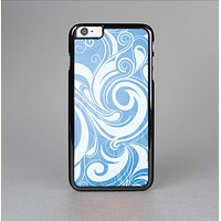 The Vector Blue Abstract Swirly Design Skin-Sert for the Apple iPhone 6 Skin-Sert Case