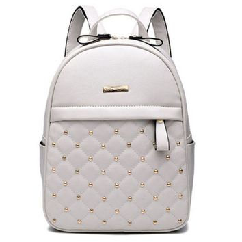 2017 Women Backpacks Hot Sale Fashion Causal Bags High Quality Bead Female Shoulder Bag PU Leather Backpacks For Girls RD804231