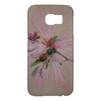 Bee on Cactus Blossom Samsung Galaxy S6 Cases