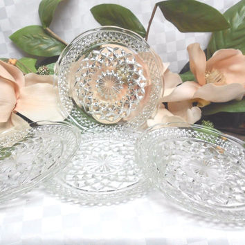 Anchor hocking 40-50-60 Glassware Era Glass set 4 Bread plate(s)
