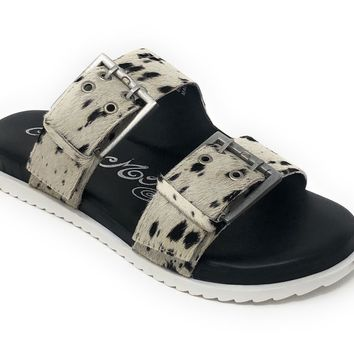 Naughty Monkey Hey Pony Black/White Sandals