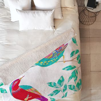 Jacqueline Maldonado Songbirds 1 Fleece Throw Blanket