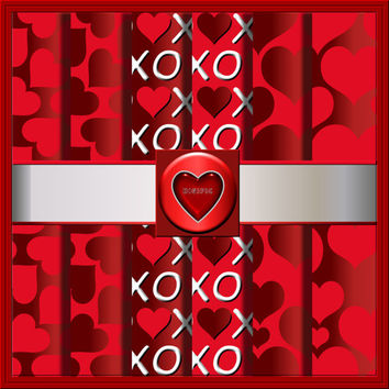 """COMMERCIAL USE OK 6 Digital Valentine Heart Scrapbook Papers, 12""""x12"""" 300Dpi Instant Download"""