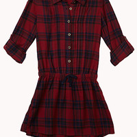 Plaid Shirt Dress (Kids)