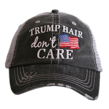 """Trump Hair Don't Care "" Truck Hat"