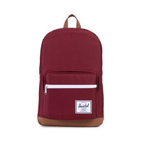 HERSCHEL SUPPLY CO POP QUIZ BACKPACK IN WINDSOR WINE/TAN