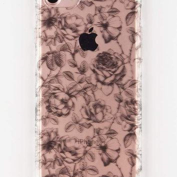 ANKIT Black Floral iPhone 7 Case