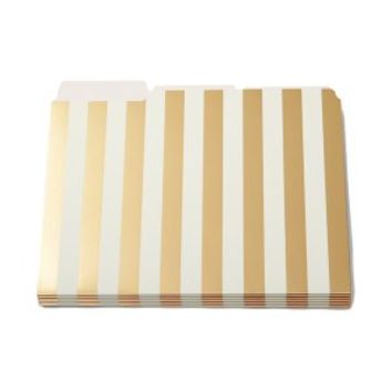 Kate Spade Gold Stripe File Folders