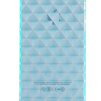 Aqua Blue Diamond Gel Rubber Case for iPhone 5 & 5s