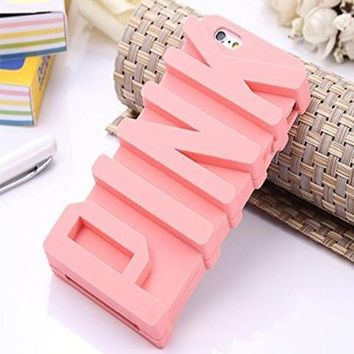 JEPN 3D PINK big letters Silicone Case for the Apple iPhone 5 5S Powder