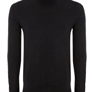 Black Roll Neck Sweater | Topman