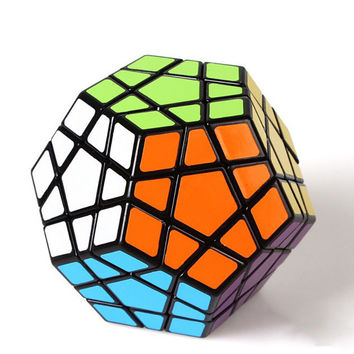 Magic Pentagon Cubes 12 Sides Gigaminx PVC Sticker Dodecahedron Toy Puzzle Twist