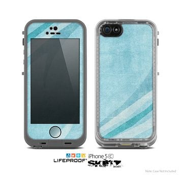 The Vintage Blue Swirled Skin for the Apple iPhone 5c LifeProof Case