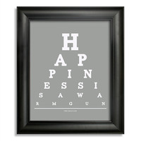 The Beatles, Happiness Is A Warm Gun Eye Chart, 8 x 10 Giclee Print BUY 2 GET 1 FREE