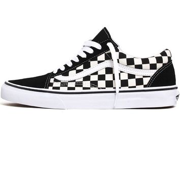 Old Skool Primary Check Sneakers Black / White