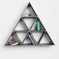 Geo Triangle Shelf- Charcoal One