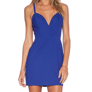 NBD x Naven Twins Not Your Babe Dress in Blue