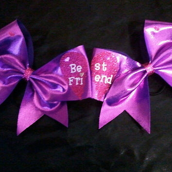 Best Friends cheer bow