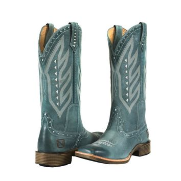 Noble Outfitters Ladies All Around Square Toe Vintage Boot - Slate Blue