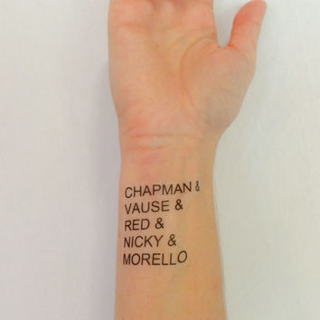 Orange is the New Black Temporary Tattoos- GeekTat - Stocking Stuffer