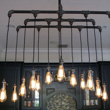 14 Light Industrial Chandelier