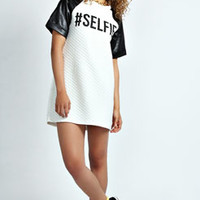 Heather 'Selfie' Quilted T Shirt Dress