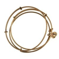 Alex and Ani Wire Bangle Bracelets - Set of 3 in Rafaelian Gold Finish