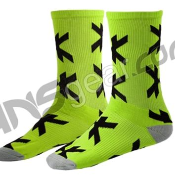 HK Army Optic Speed Socks - Neon Green/Black