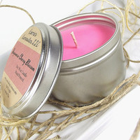 Soy Candle - Japanese Cherry Blossom scented Soy Candle Tin -- 6 ounce Tin