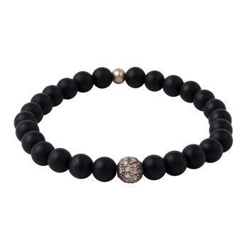 Crater Onyx Bracelet with Pave Diamonds
