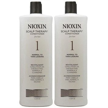 Nioxin System 1 Scalp Therapy Conditioner 33.8 Oz  PACK OF 2