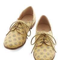 Restricted Menswear Inspired Step Rally Flat in Yellow