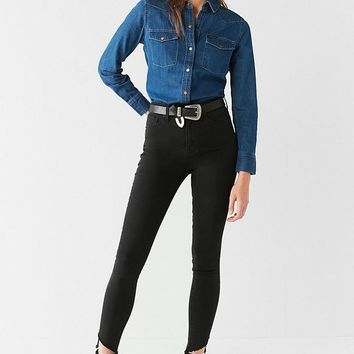BDG Twig High-Rise Skinny Jean – Frayed Ankle | Urban Outfitters