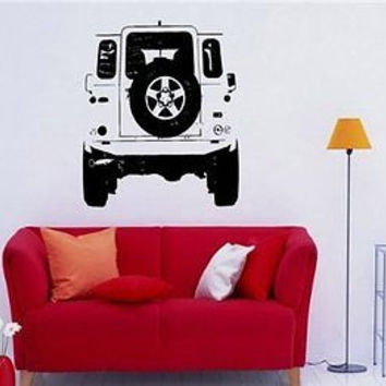 Land Rover Defender Off Road Safari Wall Art Sticker Decal 781
