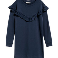 Ruffled Sweatshirt Dress - from H&M