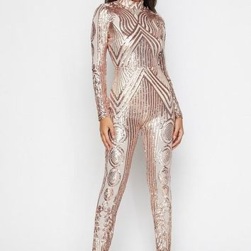 Sequin Pattern Jumpsuit (More Colors)
