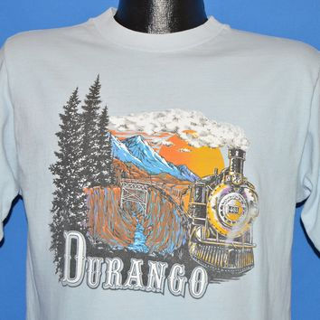 80s Durango & Silverton Railroad t-shirt Medium